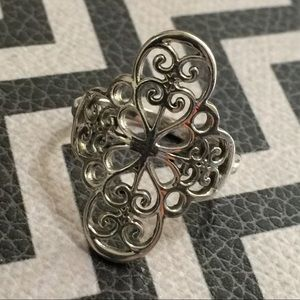 Jewelry - Sterling silver openwork cross ring